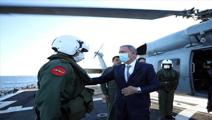 Millî Savunma Bakanı Hulusi Akar, Libya Görev Grup Komutanlığını Ziyaret Etti