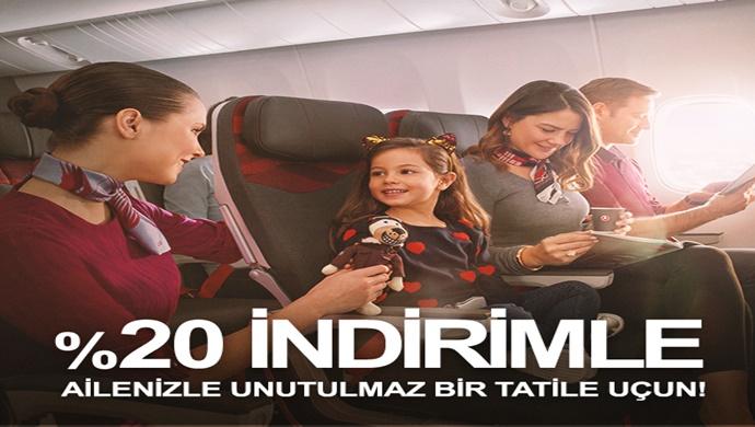 Yurt içi uçuşlarda aile indirimi!