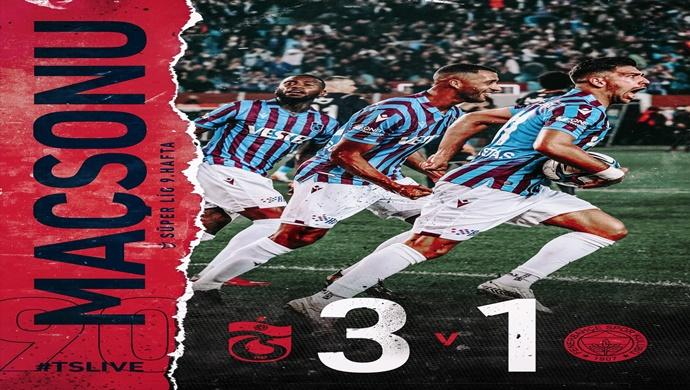 90′ Karşılaşma sona erdi. Trabzonspor 3-1 Fenerbahçe