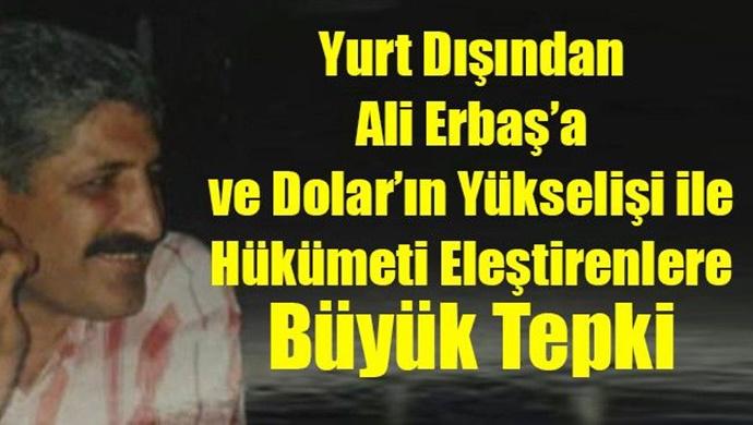 Yurt Dışından Ali Erbaş'a ve Dolar'ın Yükselişi ile Hükümeti Eleştirenlere Büyük Tepki