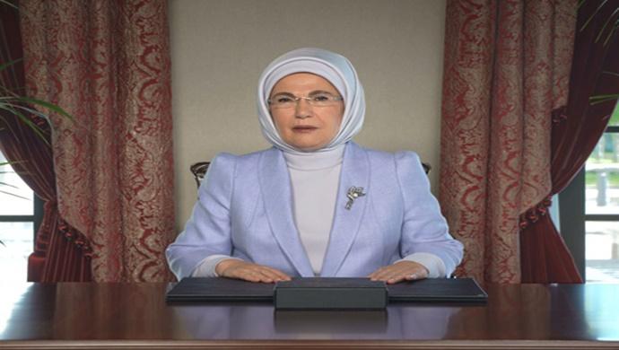 """Emine Erdoğan, """"Sıfır Atık Zirvesi 2021″e video mesajla katıldı"""